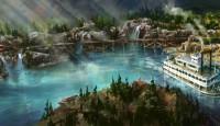 Artist's Rendering for new Rivers of America in Disneyland