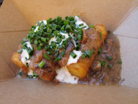 Brisket Potato Croquette with horseradish crime from the Nosh & Nibbles stand