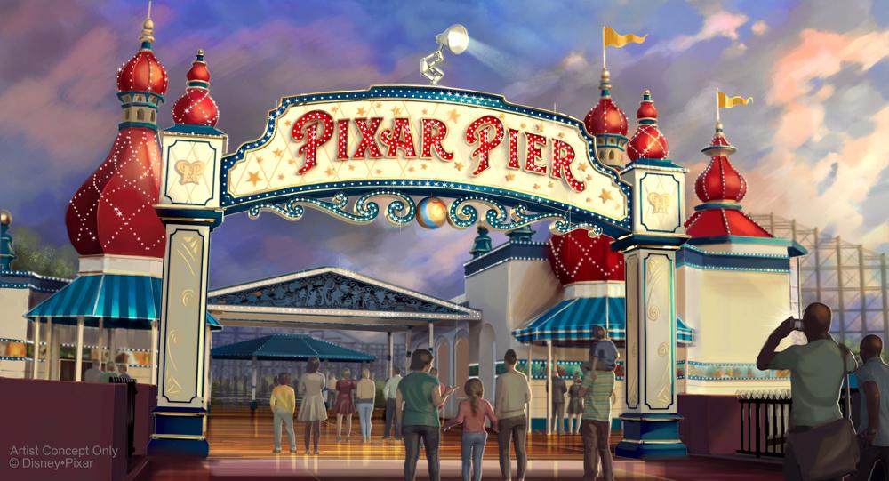 Pixar Pier Marquee