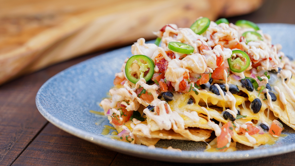 Lobster Nachos at the Lamplight Lounge at Disney California Adventure